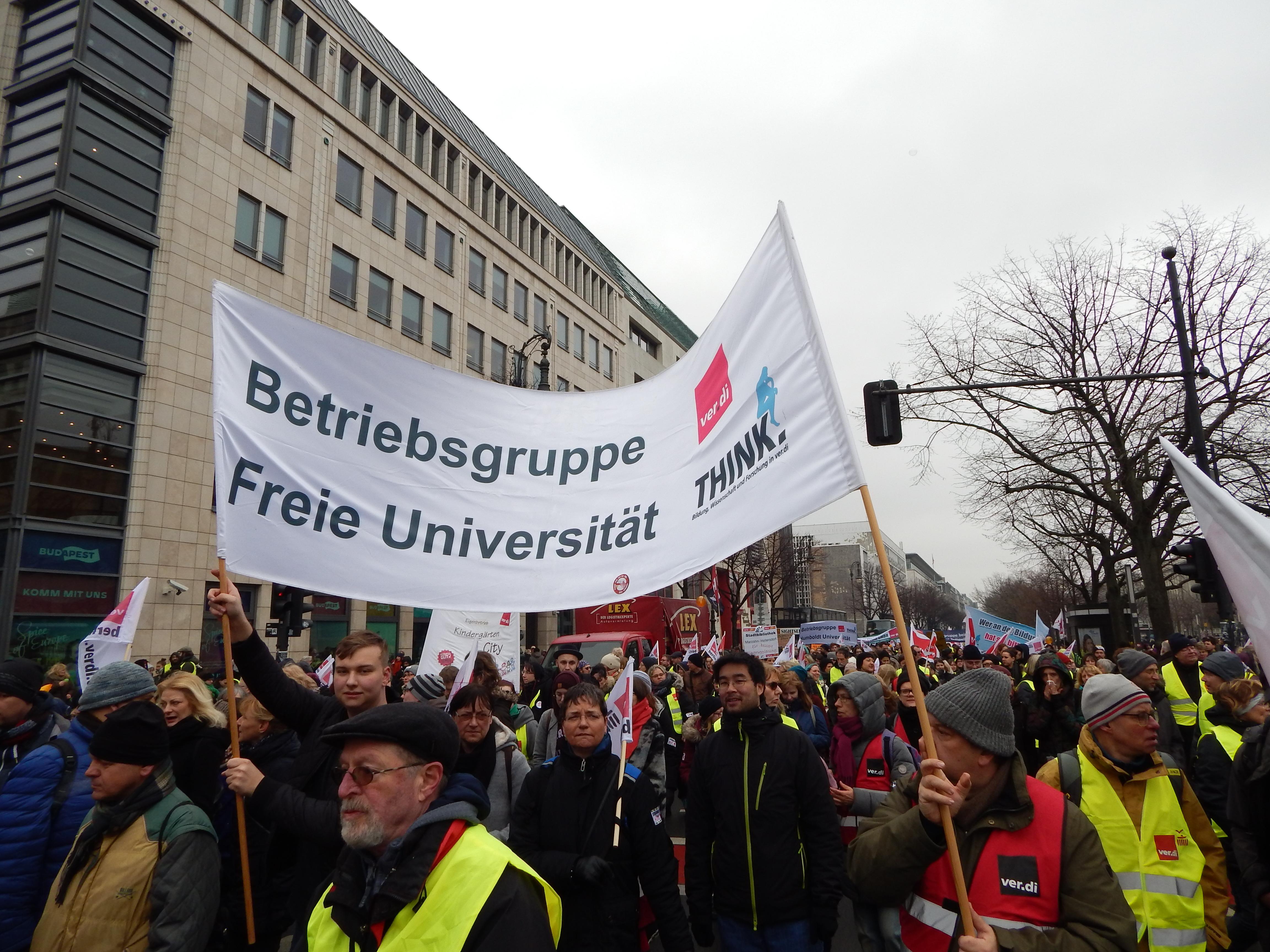 Aufruf zum *erneuten* ganztägigen Warnstreik am Mittwoch, den 27. Februar 2019 – auch Studentische Hilfskräfte sind zum Solidaritätsstreik aufgerufen!